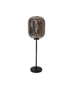 Floorlamp Glass Metal Base M & LED Bulb