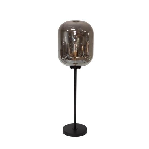 Floorlamp Glass Metal Base M & Led Bulb