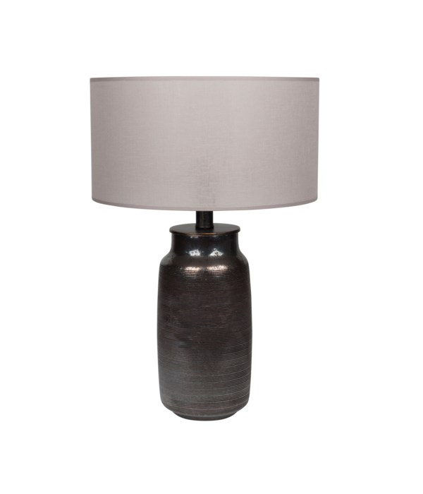 Tablelamp Glass &Metal Base W. Separate Shade*
