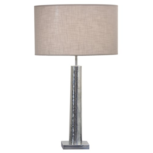 Tablelamp Iron With Taupe Shade*