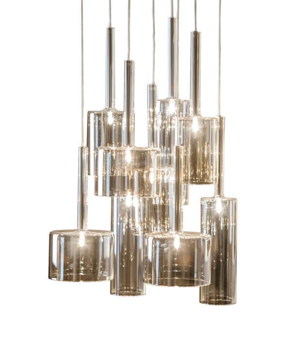 Pendant Glass With 9 Lamps