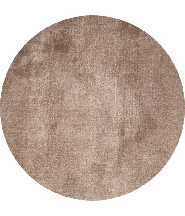 Lake Carpet in Taupe - Round