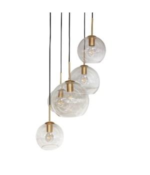 Pendant Glass & 5 LED Bulbs