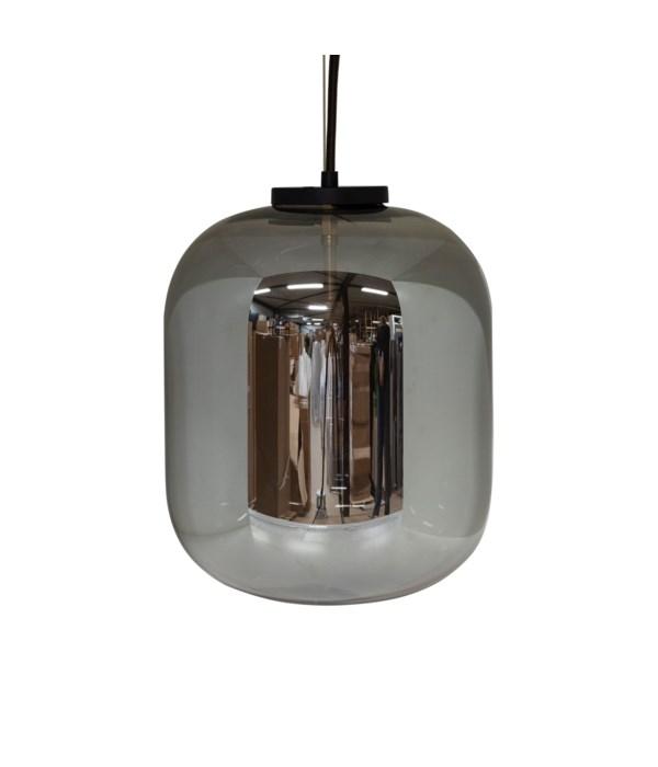 Pendant Medium Glass & LED Bulb