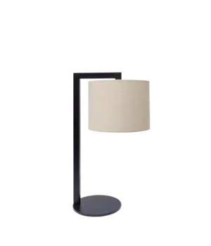 Table Lamp Iron With Fabric Shade & LED Bulb