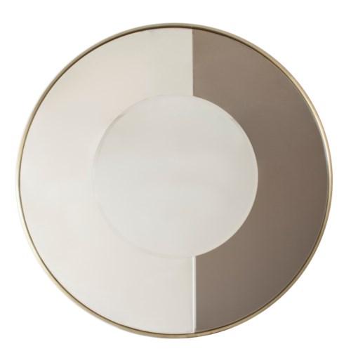 Mirror Iron With Part Bronze Glass M