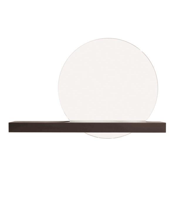 Mirror Round With Steel Shelf