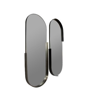 S/2 Oval Iron Mirrors