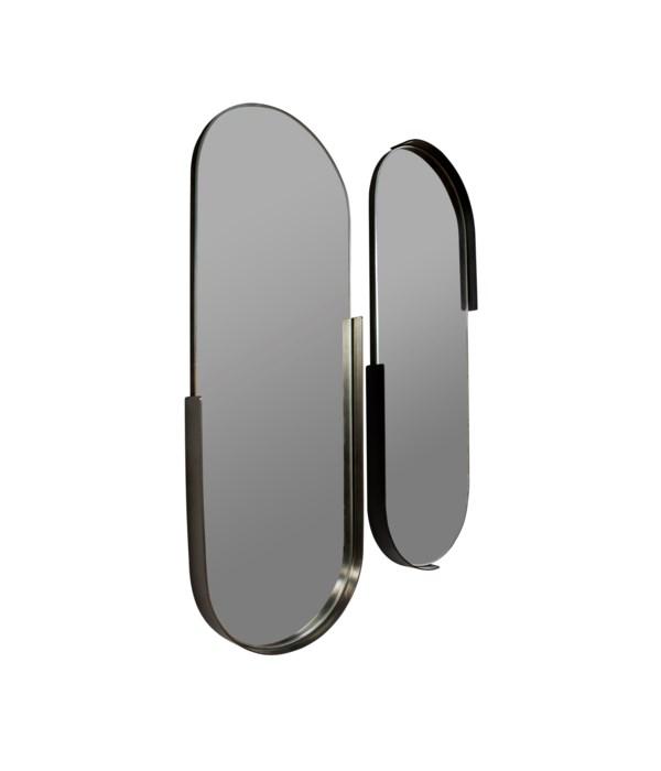 S/2 Oval Iron Mirrors