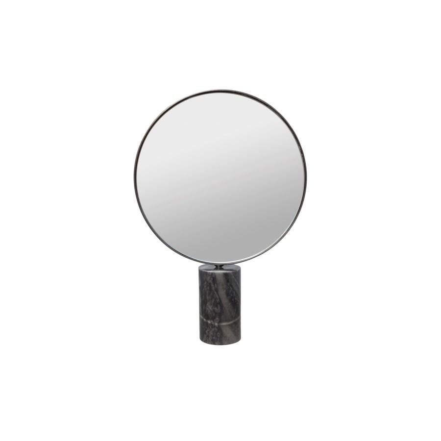 Mirror Round On Marble Stand