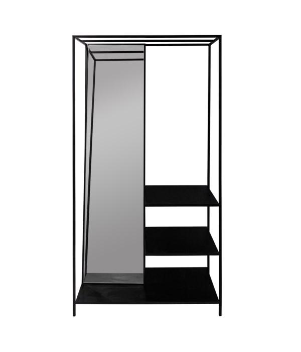 Floor Mirror With Shelfs