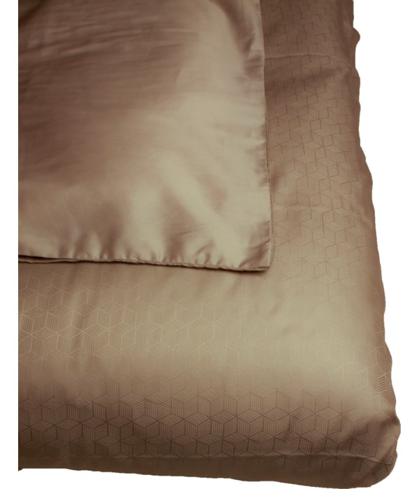 Single Sousa Bedcover With 60X60Cm Pillows In Grey