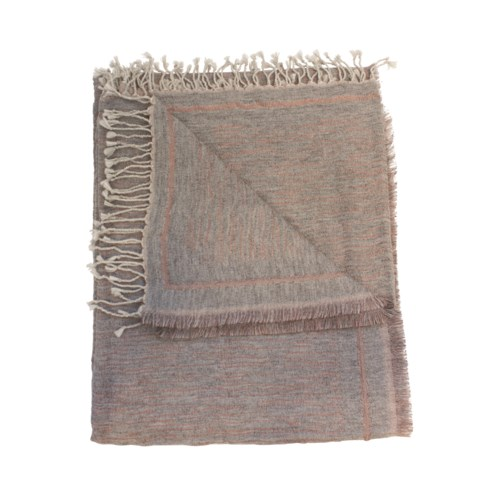 Large Star Plaid Throw Pattern A In Grey