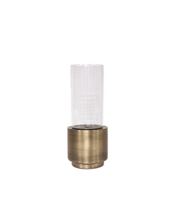 Candle Holder Aluminium With Glass S