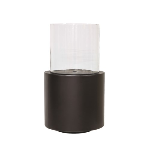Candleholder Aluminium With Glass