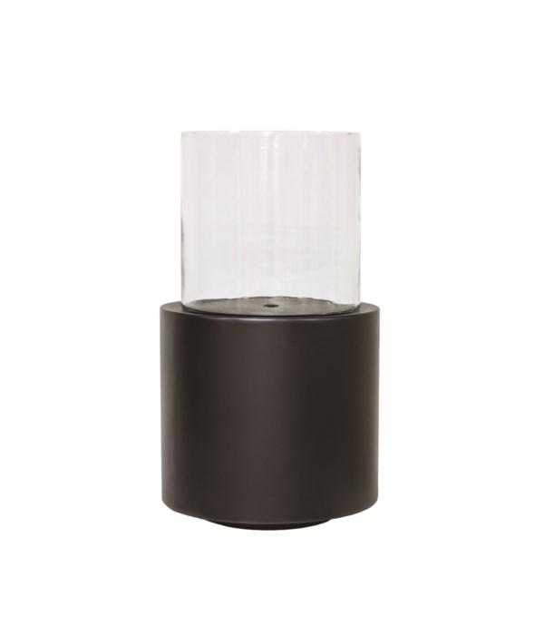 Candleholder Aluminium With Glass