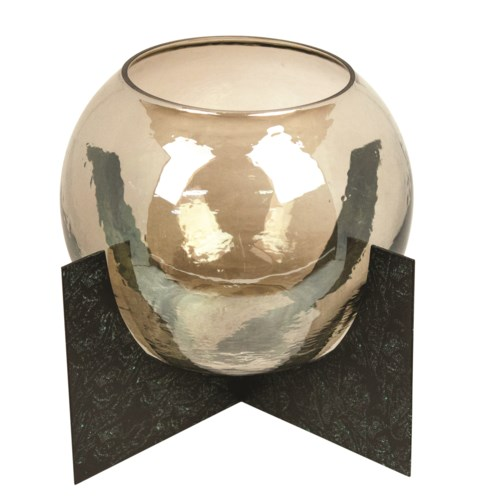 Lantern Round Model With Amber Glass