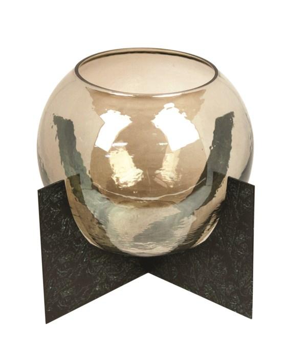 Lantern Round Model With Amber Glass