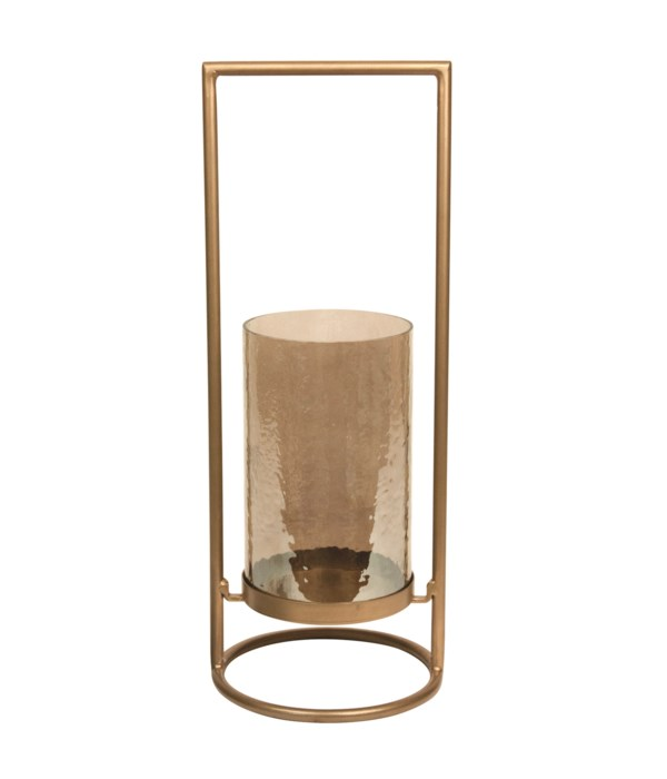 Candle Holder, Hammered Glass