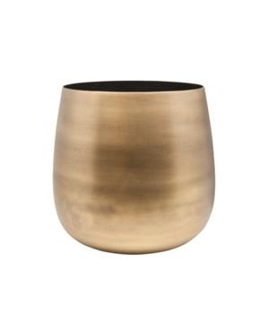 Vase Aluminium Black Inside S