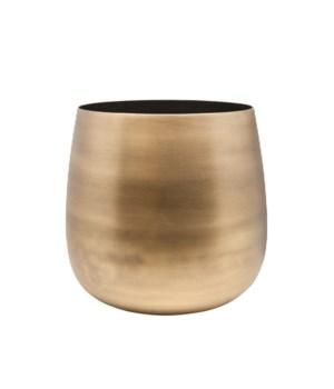 Vase Aluminium Black Inside M