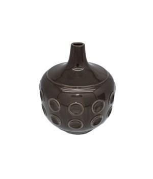 Vase Ceramics Low With Dots S