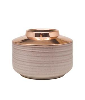 Vase Ceramics Wide Model & Rose Gold