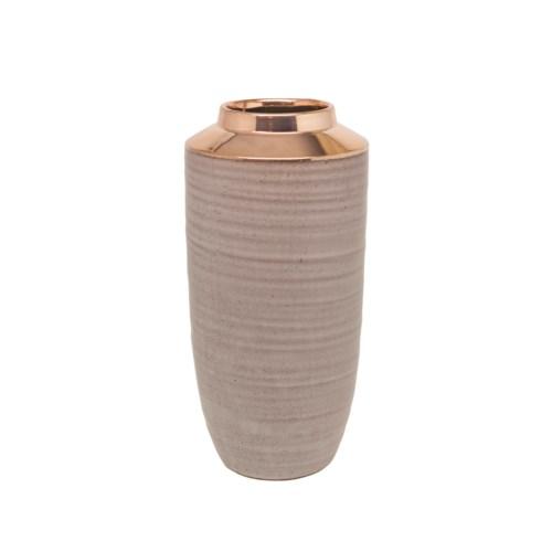 Vase Ceramics High Model & Rose Gold