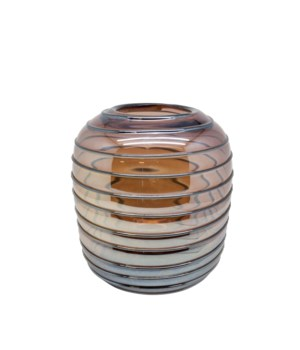 Vase Glass With Lines S