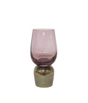 Vase Glass Two Color With Green S