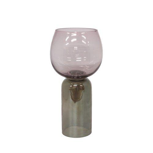 Vase Glass Two Color With Green M