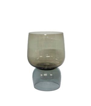 Vase Glass Two Color With Grey