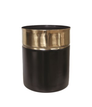 Vase Iron Two Color, Black Base L