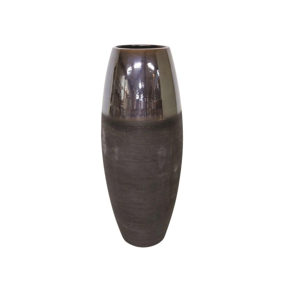 Vase Ceramics With Brown Top