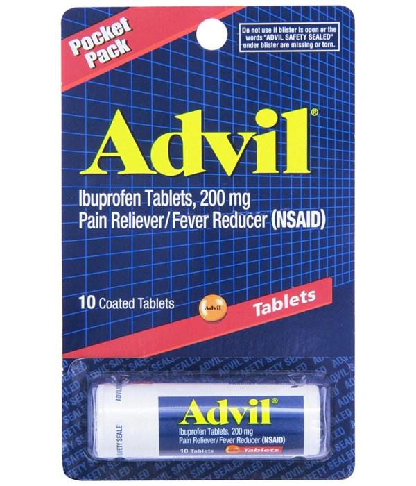 ADVIL TABLET 10'S VIAL 12/UNIT