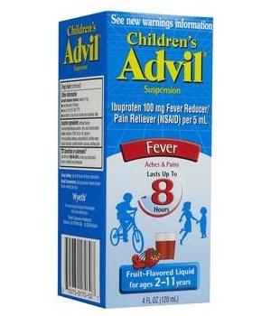 ADVIL® LIQUID CHILDREN 4oz - FRUITS FLAVOR - 36/CS