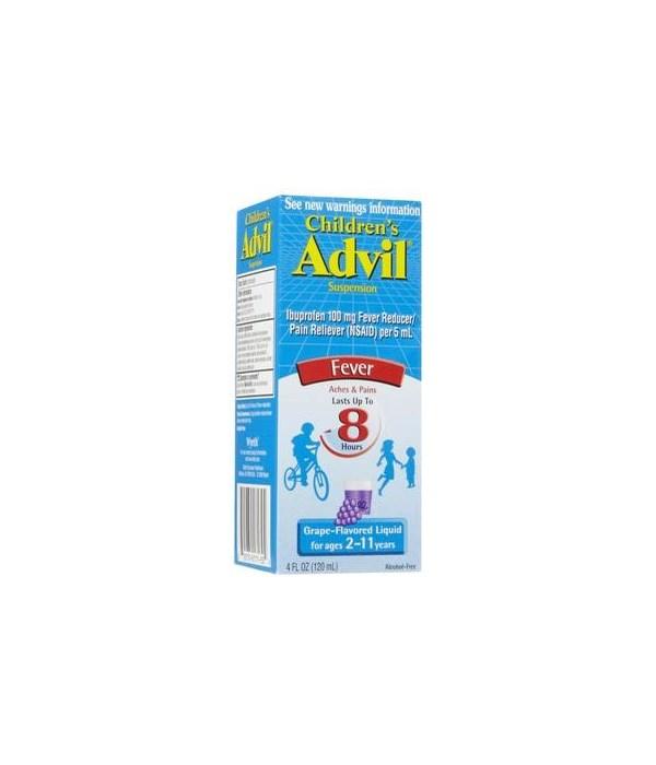 ADVIL® LIQUID CHILDREN 4oz - GRAPE - 36/CS