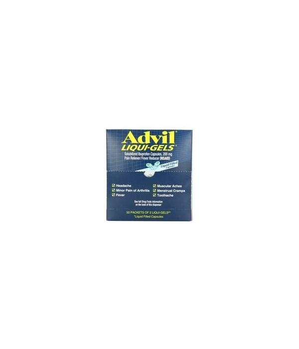 ADVIL® LIGUID GEL BOX  50 X 2'S