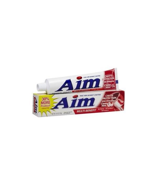 AIM® T/P 5.5 OZ - CINNAMINT RED GEL - 24/CS (00065)