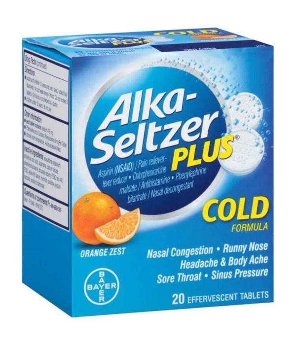 ALKA SELTZER® PLUS COLD 24/2'S