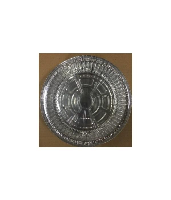 ALUMINUM PAN® ROUND 7'' WITH PLASTIC LID 3PK - 75/CS