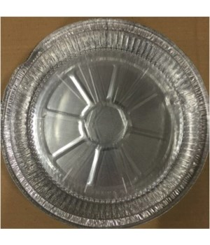 ALUMINUM PAN® ROUND 9'' WITH PLASTIC LID 3PK - 75/CS
