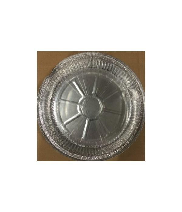ALUMINUM PAN® ROUND 9'' WITH PLASTIC LID 3PK - 75/CS