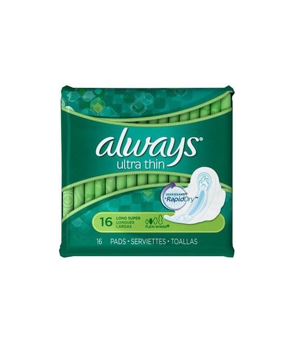 ALWAYS® ULTRA LONG SUPER W/WINGS 32PK (O: 95251 / I: 30659) - 6/CS