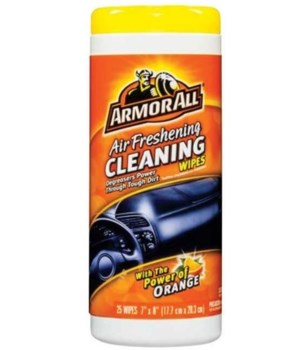 ARMOR ALL - ORANGE CLEANING WIPES 25 CT 6/CS