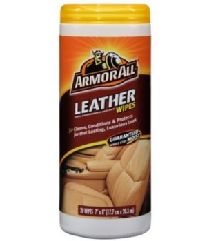 ARMOR ALL® LEATHER WIPES 20CT - 6/CS