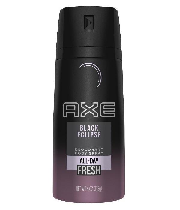 AXE® DEODORANT SPRAY 4oz USA - BLACK ECLIPSE - 12/UNIT