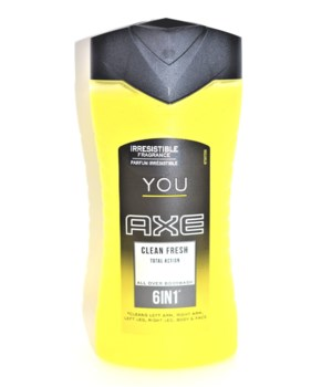 AXE® BODY WASH 250 ML - 6N1 CLEAN FRESH YOU - 12/UNIT