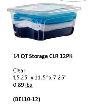 14QT STORAGE CLR 12PK