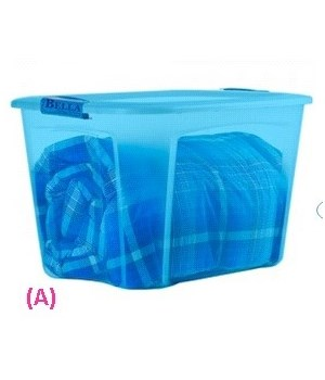 121QT LOCKING LID CLR TINT B